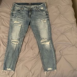 Ripped Silver Jeans